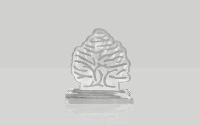 Estatuilla del logo de springfield